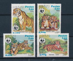 [54100] Laos 1984 Wild animals Mammals WWF Tiger MNH