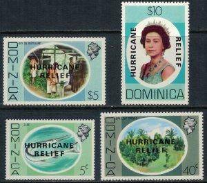 Dominica #640-3* NH  CV $6.05  Hurricane Relief