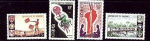 Dahomey 222-25 MNH 1966 Boy Scouts    (ap4343)