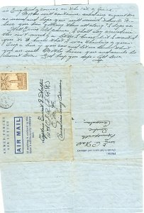 CANADA 1944 SCARCE MILITARY LETTER-SHEET...USED...#257