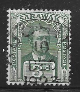Sarawak 81: 3c Sir Charles Vyner Brooke, used, F-VF