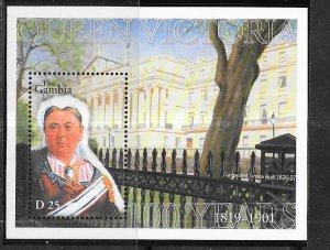 Gambia #2454 25d  Queen Victoria S/S (MNH) CV $5.00