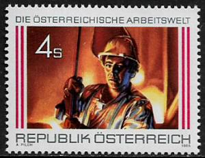 Austria #1376 MNH Stamp - Steel Workers