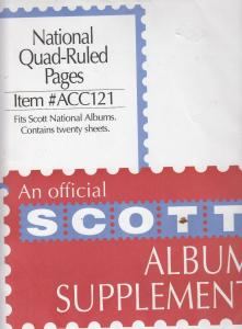 Scott Quad-Ruled Pages for National Albums 20 Sheets