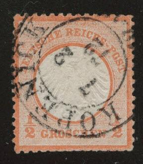 Germany Scott 3 used 1872 embossed center small shield CV$37