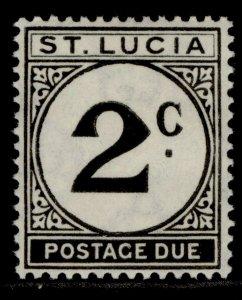 ST. LUCIA GVI SG D7, 2c black, M MINT.
