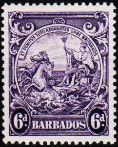 Barbados. 1938 6d S.G.254 Mounted Mint