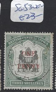 BRITISH CENTRAL AFRICA (PP1203B)  1D/3/-  SG 53   VFU