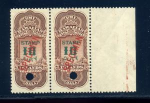 Hawaii Scott R16S Revenue Specimen Mint Pair of  Stamps NH (Stock By 453)