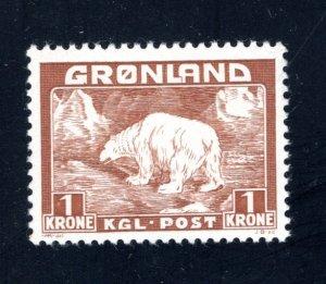 Greenland #9,   VF/XF, Unused, CV $5.25 ....2510164