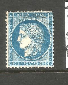 FRANCE  1871-76  25c  CERES  MH   TYPE 2   SG 199a  CV 3000pds