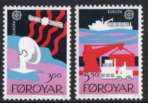 Faroe Islands 1988  MNH Europa transport complete   vepv 248