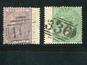Great Britain #27, 28  Used HICV    -  Lakeshore Philatelics