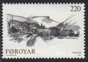 Faroe Islands 1982 MNH villages  220 ore   #
