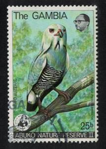 Gambia WWF Lizard Buzzard Bird 1v canc SG#401 MI#375 SC#382