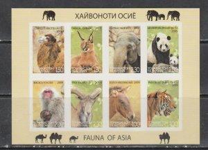Tajikistan 2009 elephants elephants wild cats sheet MNH imperforated !