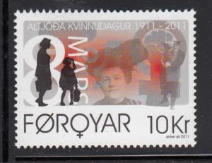 Faroe Islands MNH 2011 10kr Centenary International Women's Day
