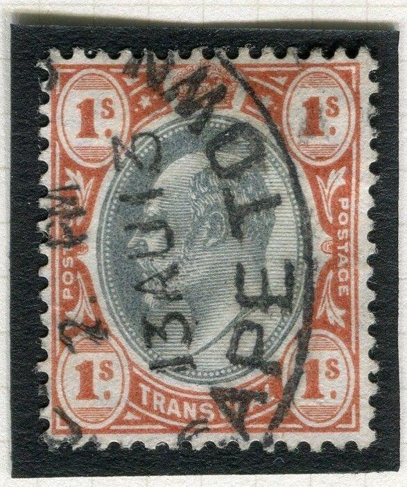 TRANSVAAL Interprovincial Period Ed VII CAPE TOWN Postmark on 1s.
