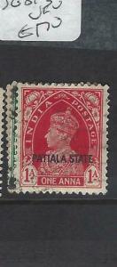 INDIA  PATIALA  (PP0704B)  KGVI  SG 81-3   VFU
