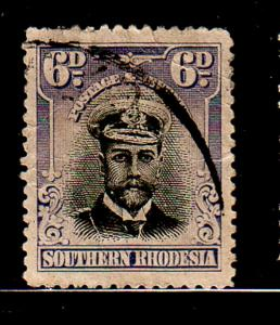 Southern Rhodesia Sc 7 1924 6 d George V stamp used
