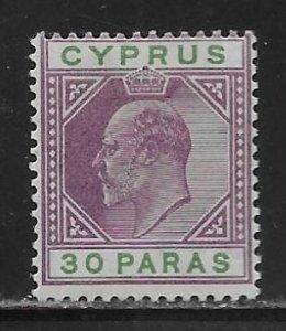 Cyprus 51 30pa King Edward VII single MH