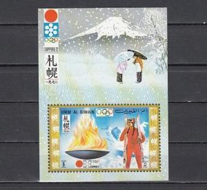 Umm Al Qiwain, Mi cat. 465, BL31. Sapporo Olympic Flame s/sheet.