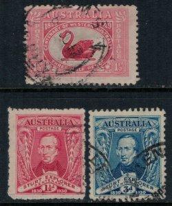 Australia #103-5  CV $13.25