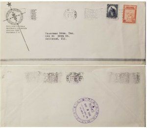 A) 1961, GUATEMALA, COVER SHIPPED TO BELLWOOD, SLOGAN CANCELATIONS, UNIVERSAL PO