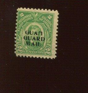 Guam Guard Mail M1 Overprint Mint Stamp  (Stock Guam Bx 465)