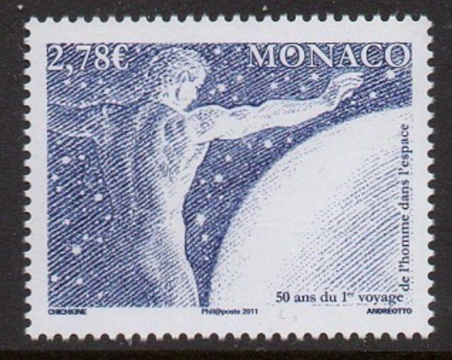 Monaco 2011 First Man In Space VF MNH (2650)