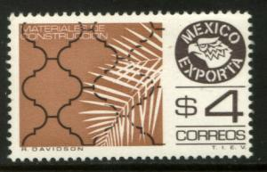MEXICO Exporta 1119 $4P Construction Mats. Fluor Paper 8 MNH