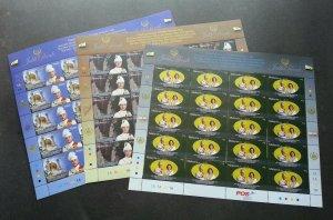 Silver Jubilee Of Sultan Perak Malaysia 2009 King Royal Leader (sheetlet) MNH