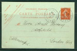 France H & G # 68, pse postal card, used, issued 1907/16
