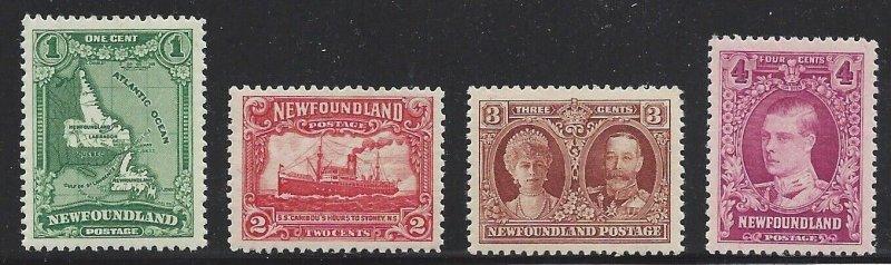 Newfoundland #163 Thru 166 OG Quality Stamps!!