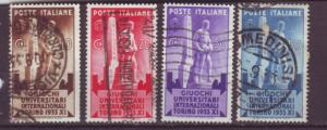 J16961 JLstamps 1933 italy set used #306-9 statue
