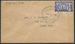NEW ZEALAND 1941 10d overprint on plain FDC - ACS cat NZ$75...............40509a
