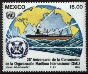MEXICO 1312, 25th Anniv of Intl. Maritime Organization MINT, NH. F-VF.