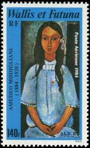 Wallis and Futuna 1984 #C135 MNH. Painting