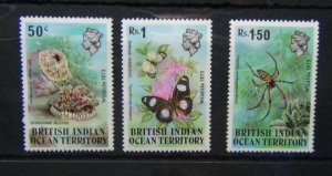 British Indian Ocean Territory 1973 Wildlife set 1st Series MNH
