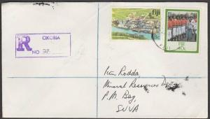 FIJI 1986 Registered cover to Suva ex CIKOBIA..............................54520