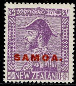 SAMOA GV SG168, 3s mauve, NH MINT. Cat £28.
