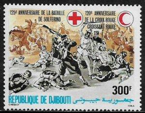 Djibouti #C203 MNH Stamp - Battle - Red Cross