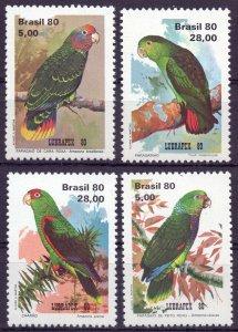 Brazil. 1980. 1789-2. Parrots fauna. MNH.