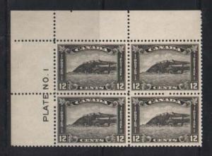 Canada #174 XF/NH Plate #1 UL Block
