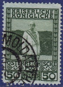 Austria - 1908 - Scott #121 - used - MOLDAUTHEIN pmk Czech Republic