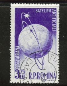 ROMANIA Scott C51 used CTO Airmail 1957