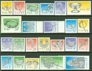 EDW1949SELL : IRELAND 1990-95 Scott #767-794 Complete set. VF Mint NH. Cat $85.