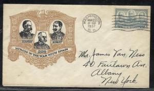US #793-62 Army Navy Heroes Dietz cachet addressed