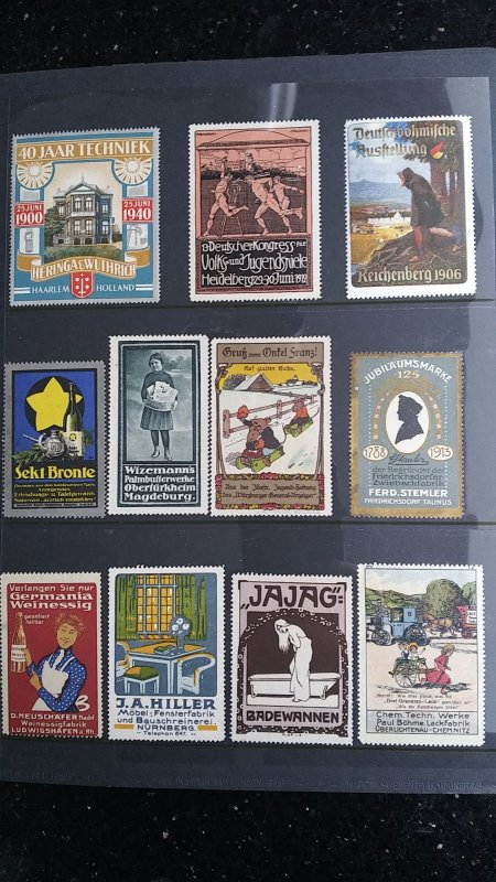 World Exhibition, Convention, Stamp Show, Poster, Label stamp Collection LOT #Q6