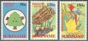 1987 Surinam 1217-1219 Forestry commission 7,00 €